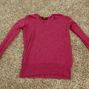 Red v-neck sweater-m-Mossimo